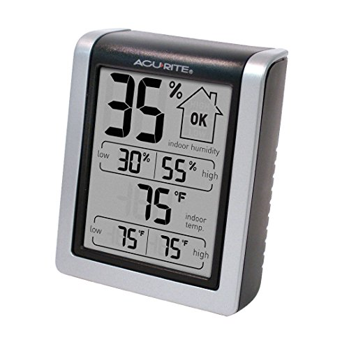 Best AcuRite 00613MB Humidity Monitor with Indoor Thermometer, Digital Hygrometer and Humidity Gauge Indicator